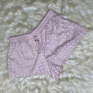 XXI Blush Laser Cut Out Shorts Sz Med